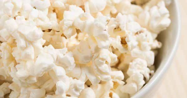 popcorn mag een hond