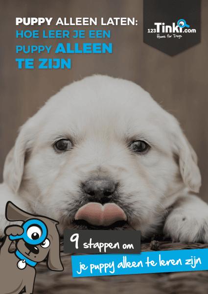 puppy boek over puppy alleen laten